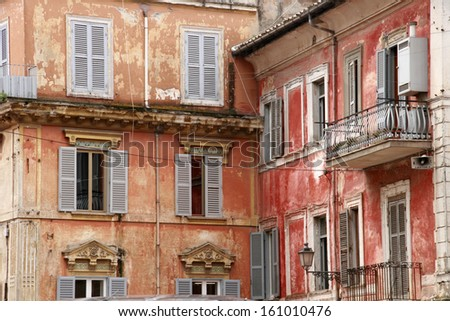 Old town houses in Italy