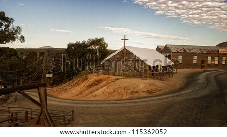 old town in southern hill - stock photo