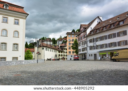 Old town in St. Gallen, Switzerland