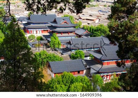 Old town Lijiang. Yunnan. China. - stock photo