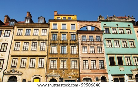 Old Town Market Place in Warsaw, Capital of Poland - stock photo