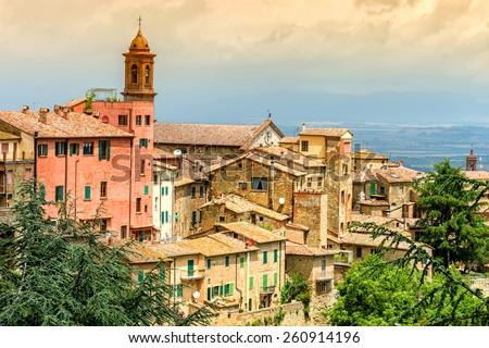 Old town Montepulciano, Tuscany, Italy - stock photo
