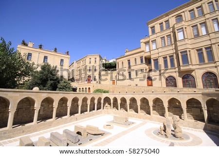 Old Town of Baku City in Azerbaijan. - stock photo