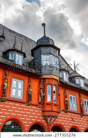 Old town of Gorlar, Lower Saxony, Germany. Old town of Goslar is a UNESCO World Heritage