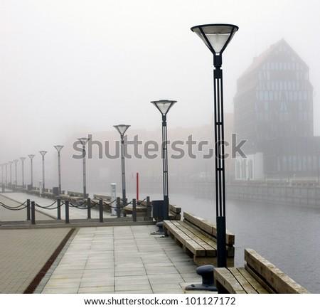 Old town of Klaipeda. Lithuania - stock photo