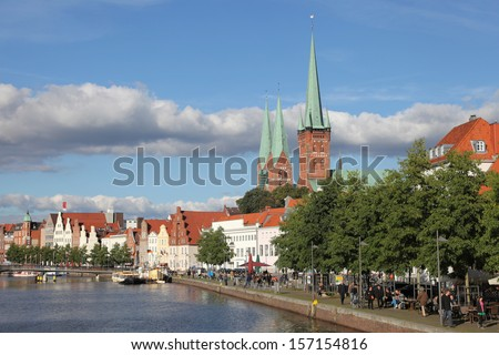 old town of Luebeck - stock photo