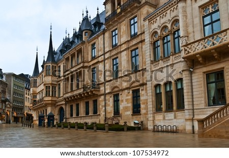 Old town of Luxembourg. Center of western Europe. - stock photo