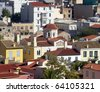 old town Plaka, under Acropolis, Athens Greece - stock photo