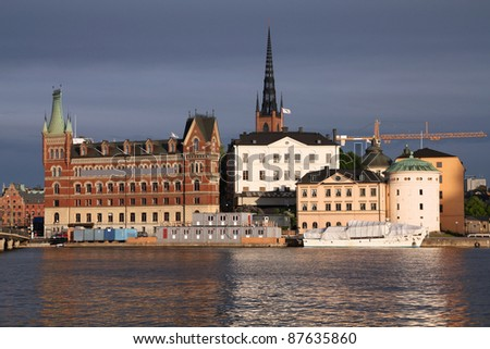 Old town skyline in Stockholm