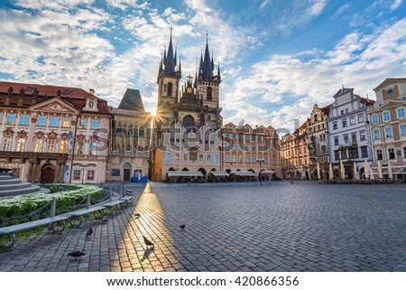 Old town square, Prague, Czech Republic - stock photo