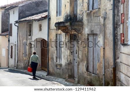 Old town street - stock photo