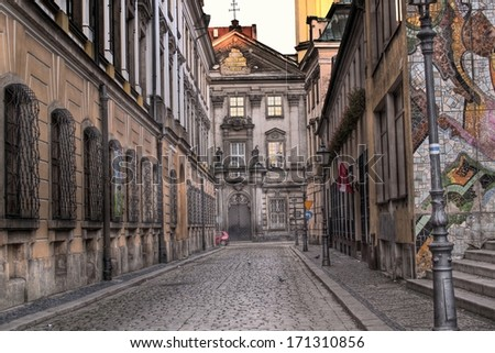 old town street - stock photo