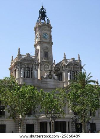Old town Valencia - stock photo