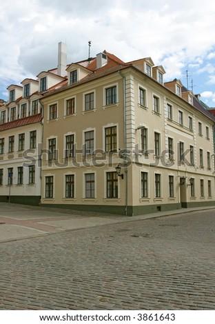 Old town view (Riga, Latvia) - stock photo