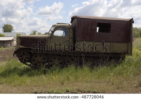 Old tracked vehicles