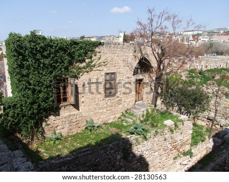 Old traditional house, Lebanon - stock photo