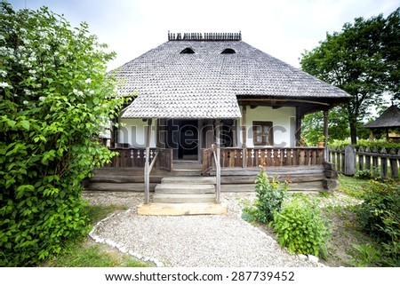 Old traditional romanian house - stock photo