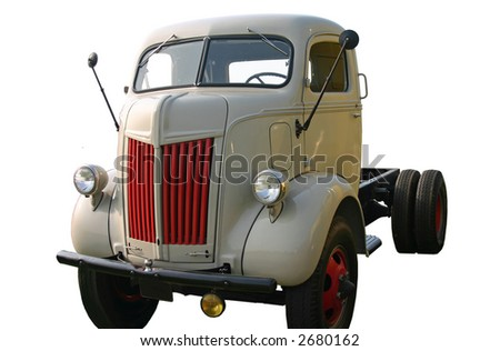 Old Truck Front Corner - stock photo