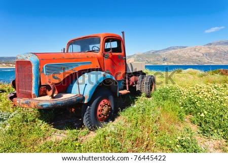 Old Truck, worn out and rusty - stock photo