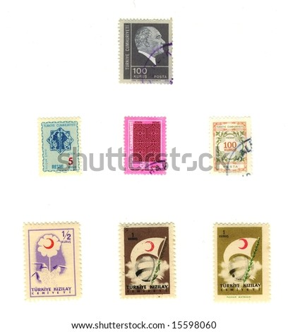 old turkey stamps