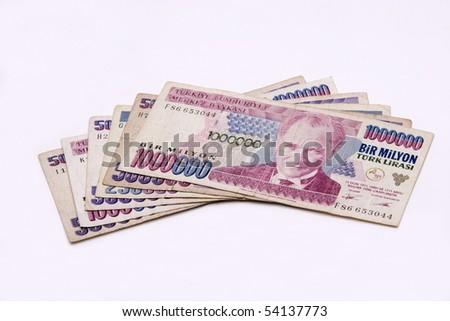 Old Turkish Lira - stock photo