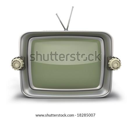 Old TV set - stock photo