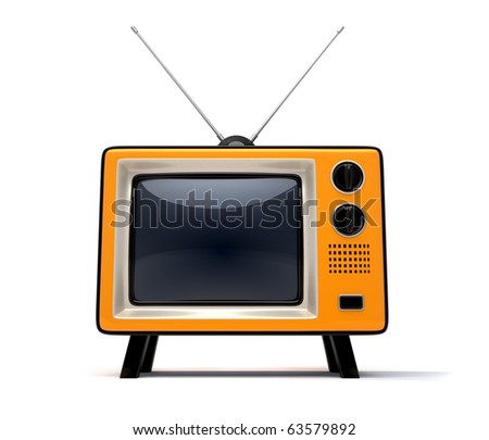 Old TV - this is a 3d render illustration