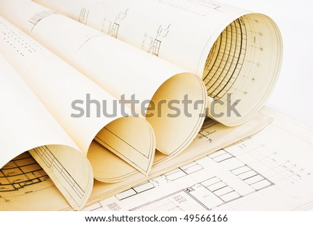 old twisted drawings - stock photo