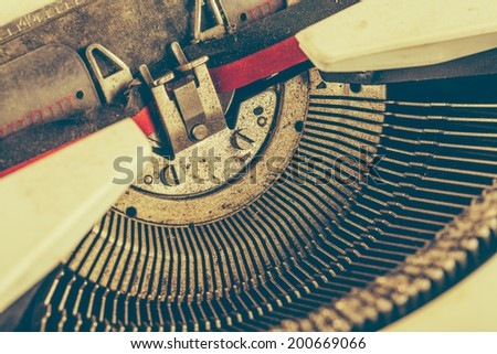 old type writer studio shot - stock photo