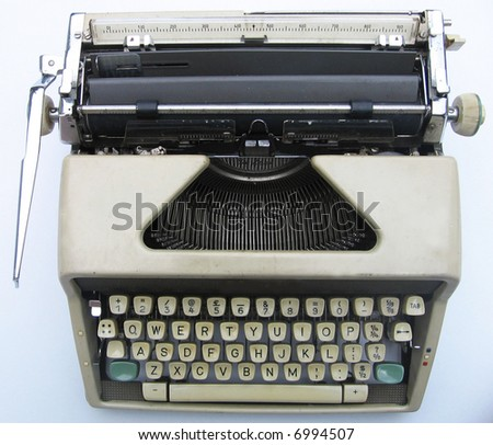 Old Typewrite- Top View