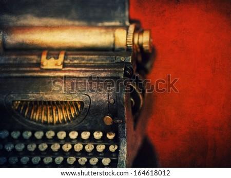 old typewriter  border design background  - stock photo