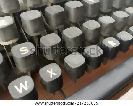 Old typewriter. Illustration. - stock photo