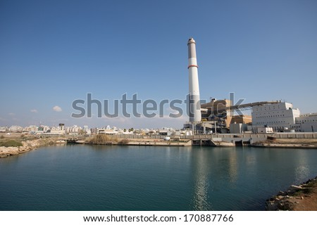 Old unued power plant located in Tel Aviv, Isreal. - stock photo