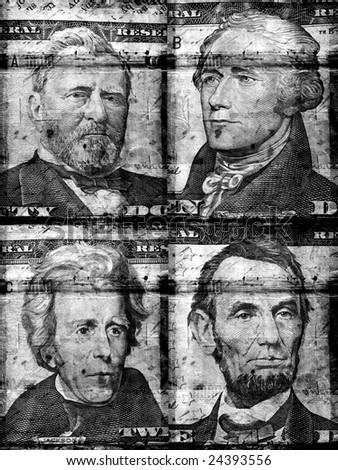 Old US dollar - stock photo