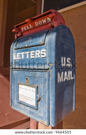 Old US Mail box in Lincoln, New Mexico