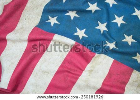 old USA flag background - stock photo