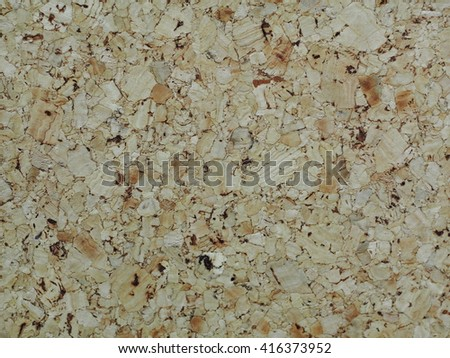 old used natural materials cork board corkboard with worn and usage sign on the rough surface  - stock photo