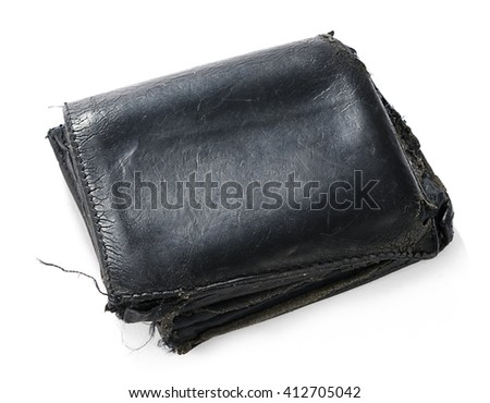 Old Used Wallet Isolated - stock photo