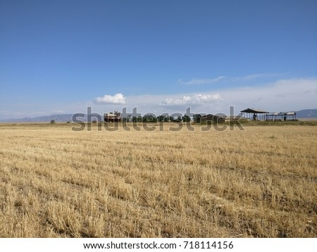 old vacated farming facility, Kazakhstan