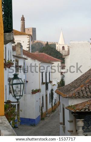 Old village street - stock photo