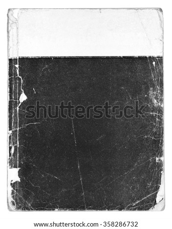 Old vintage book isolated on white background - stock photo
