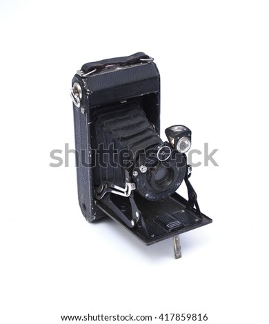 old vintage camera - stock photo