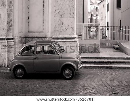 Old vintage car - stock photo