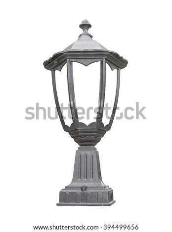 Old Vintage column Lamp isolated on white background - stock photo