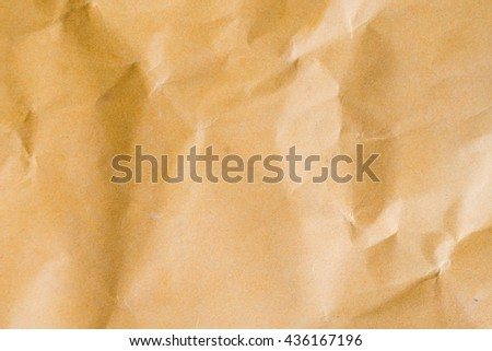 Old vintage crumpled brown paper texture for background - stock photo