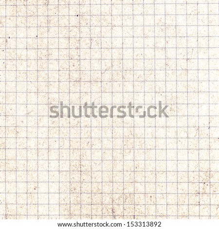 Old vintage discolored dirty graph Recycled paper with natural fiber parts. Lined recycled paper background. - stock photo