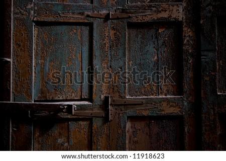 Old vintage door - stock photo