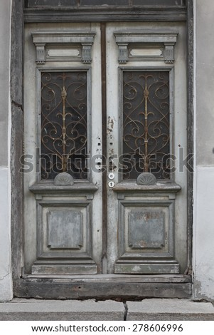 Old vintage door, Baltic States - stock photo