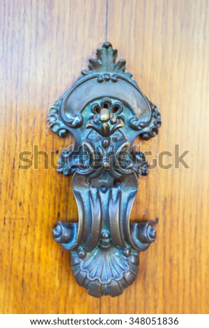 Old vintage door handles and deadbolt
