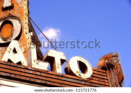old vintage mid century sign - stock photo